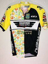 LOUIS GARNEAU Cycling Shirt Granfondo Bill Bone Bike Law Mens XS Zip Up Yellow