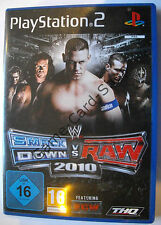 PS 2 - WWE Smack Down vs. Raw 2010 - mit Verpackung + Anleitung