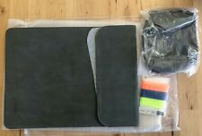 Hyzuo Suede Cover / Sleeve For Macbook 13 inch, Dark Gray NEW w/ Extra Case