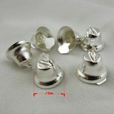 **36847 Silver Tone Metal Christmas Jingle Bell Craft Bell Finding Charm 20pcs