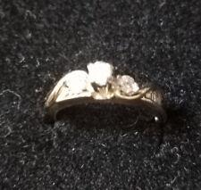 RING - Women's Elegant Wedding Band - Unique w/ 10kt White Gold, Diamond Sets!!