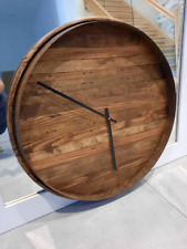 More details for beautiful minimalist large wooden wall clock