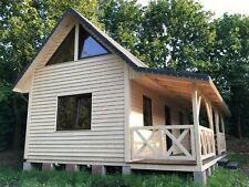 Ferienhaus Gartenhaus aus Holz ca 69 m2 mit überdachter Veranda