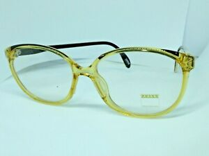 ZEISS Glasses Real Vintage Ages 80 Woman Germany Yellow New