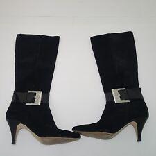 Michael Kors Suede Black Boots Size 6.5M