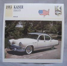 Kaiser Dragon & Manhattan Collectors Classic Car Cards