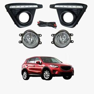 Fog Light Kit for W/DRLs Mazda CX-5 KE 02/2012-11/2014 W/Wiring&Switch