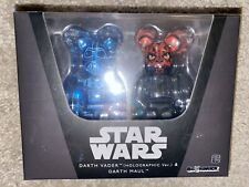 Medicom Bearbrick Be@rbrick Star Wars 2 Pack Holographic Darth Vader Darth Maul