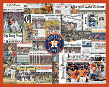 "Houston Astros 2017 World Series Newsaper Collage Print Art 16x20"" Print Only"