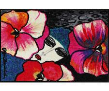 Waschbare Fußmatte Schmutzfangmatte SALONLOEWE schwarz/rot 75 x 120 cm