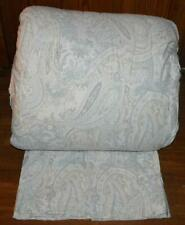 Ralph Lauren Light Slate Blue Beige Grey Paisley 3P Full/ Queen Comforter Set
