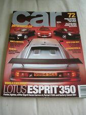 Car Feb 1999 Lotus Esprit 350, Renault Clio V6