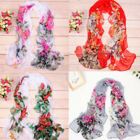 Fashion Women's Long Soft Wrap Lady Shawl Silk Chiffon Scarf Scarves USWarehouse