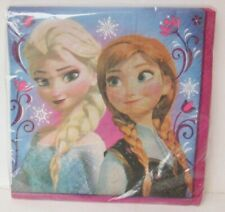16 DISNEY FROZEN PARTY NAPKINS Anna Elsa New In Sealed Package Unique
