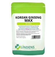 Lindens Ginseng Coréen MAX 3125mg 90 Comprimes Coree Korean Panax