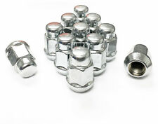 "(10) Chrome Lug Nuts 1/2-20 Bulge Acorn 19mm 3/4"" Hex 1.38"" Ford Jeep Dodge 1/2"