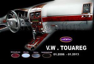 VOLKSWAGEN Touareg Interior Dash Trim Kit 3M 3D FULL SET Burl Wood 2005-2013 RHD