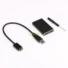 H-speed SSD mSATA to USB 3.0 Hard Disk Drive Enclosure Adapter Case Box w/ Cable