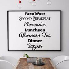 Funny Wall Decal Vinyl -  Breakfast second breakfast Elevensies Luncheon