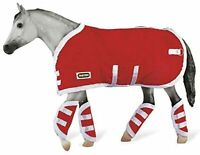 Breyer Tack Blanket and Shipping Boots Red Quilted with White Trim 3946