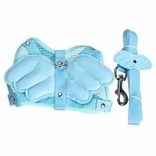 Blue justable Angle Wing Rabbit Ferret Pig Harness Leash Le Strap Nylon HY