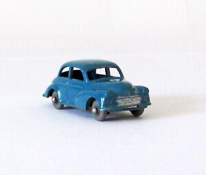 Vintage Lesney Moko Matchbox #46-A Morris Minor 1000 Gray Wheels RARE BLUE 1958