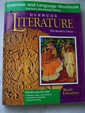 Glencoe World Literature Grammar and Language Workbook Teacher's Edition