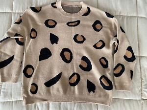 Women's  Leopard Animal Print Pullover Sweatshirt •M *EUC
