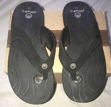 Ocean Minded Men's Black Flip Flops Size 12 NEW