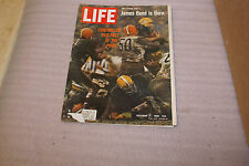 October 14 1966 Life Magazine NFL Pro Tactics Browns Packers Covers James Bond