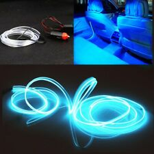 2M LED Car Interior Wire Strip Atmosphere Cold Light Blue Decor Strip Universal