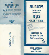 Greek Line 35 Tour Packages for All-Europe Golden Route Tours 1965 Brochure