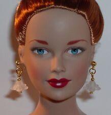 OOAK Art Doll/ Tonner/ Barbie/ Bratz Earrings- Small Hole- Flower U Pick Color