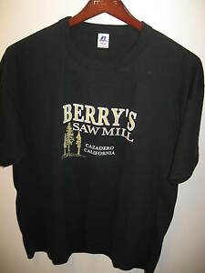 Berry's Berrys Saw Mill Cazadero California Russell Athletic 1980s T Shirt Blk L