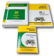 SERVICE MANUAL SET FOR 40 STANDARD TRACTOR OPERATORS PARTS CATALOG