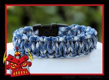 550 Paracord Survival Bracelet Cobra - Blue Combo