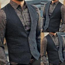 Hombre Informal Negocios Chaleco Camiseta sin Mangas Cuello en Pico Vintage