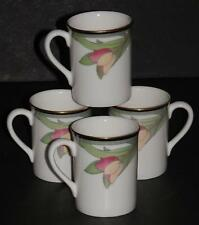 SET / 4 ROYAL DOULTON  ~ AWAKENING ~ FLORAL DEMITASSE CUPS TC 1162 ENGLAND EXC