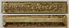 445) Barretta argento Umberto I  campagna d'Africa 1887