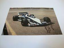 NELSON PIQUET BRABHAM BMW SIGNED COLOUR PHOTO