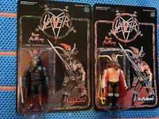 Super 7 Reaction King Diamond Slayer Mercyful Fate Action Figure Glow In Dark LP