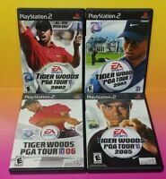 Tiger Woods Golf 2002 2003 2005 06 - PS2 Playstation 2 Game Lot Complete Works