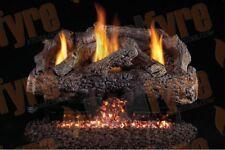 """Real Fyre Charred Frontier Oak Vent Free Logs G10 Burner - Multiple Options 18 """""""