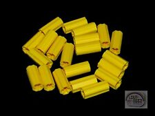 LEGO Technic - 20 x Axle Connector - Smooth - Yellow - New - (NXT, EV3)