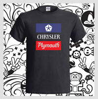 CHRYSLER PLYMOUTH Logo Sport American Car Men's Black T-Shirt S M L XL 2XL 3XL