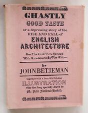 Ghastly Good Taste John Betjeman 1970 Hardcover vintage hardback dust jacket