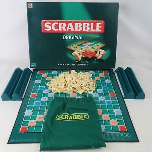 Scrabble original Mattel games retro vintage board game 1999 family fun