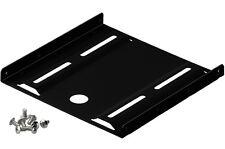 hdd ssd einbauwinkel einbaurahmen 2,5 an 3,5 festplatte montage metall schwarz