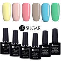 6 Bottles UV Gel Nail Polish Set 7.5ML Soak Off Gel Nails Manicure UR Sugar DIY