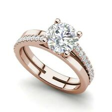 Cut Diamond Engagement Ring Rose Gold Pave Set 4.25 Carat Vvs2/F Round